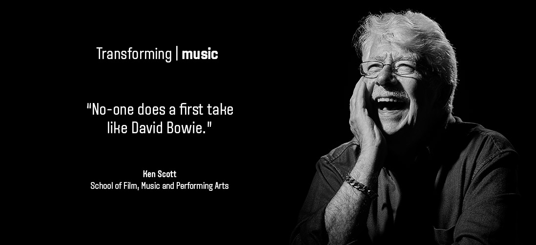 "Transforming music: ""No-one does a first take like David Bowie"" - Kenn Scott - School of Film, Music & Performing Arts"
