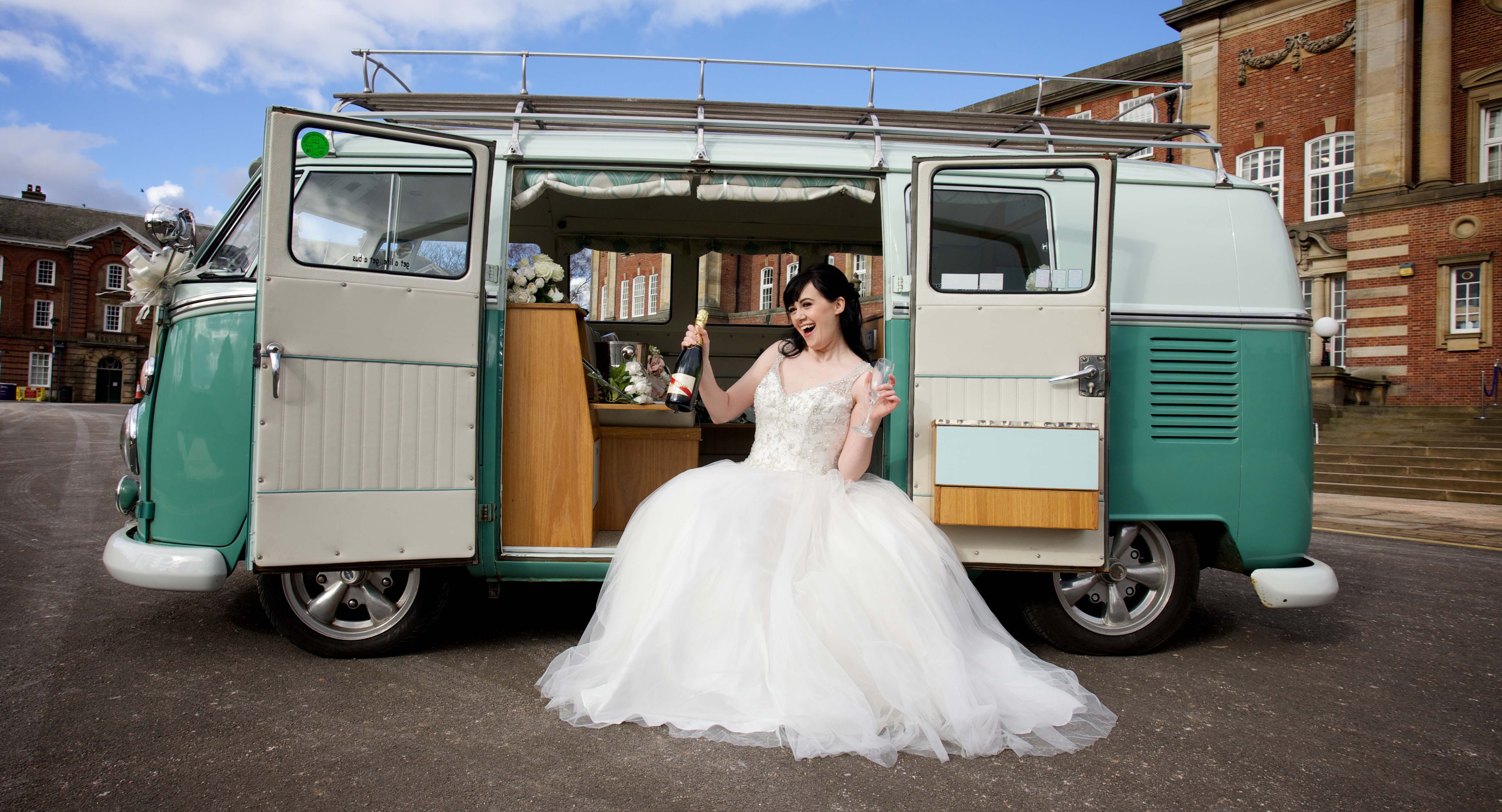 Wedding Fair Bride on VW Camper