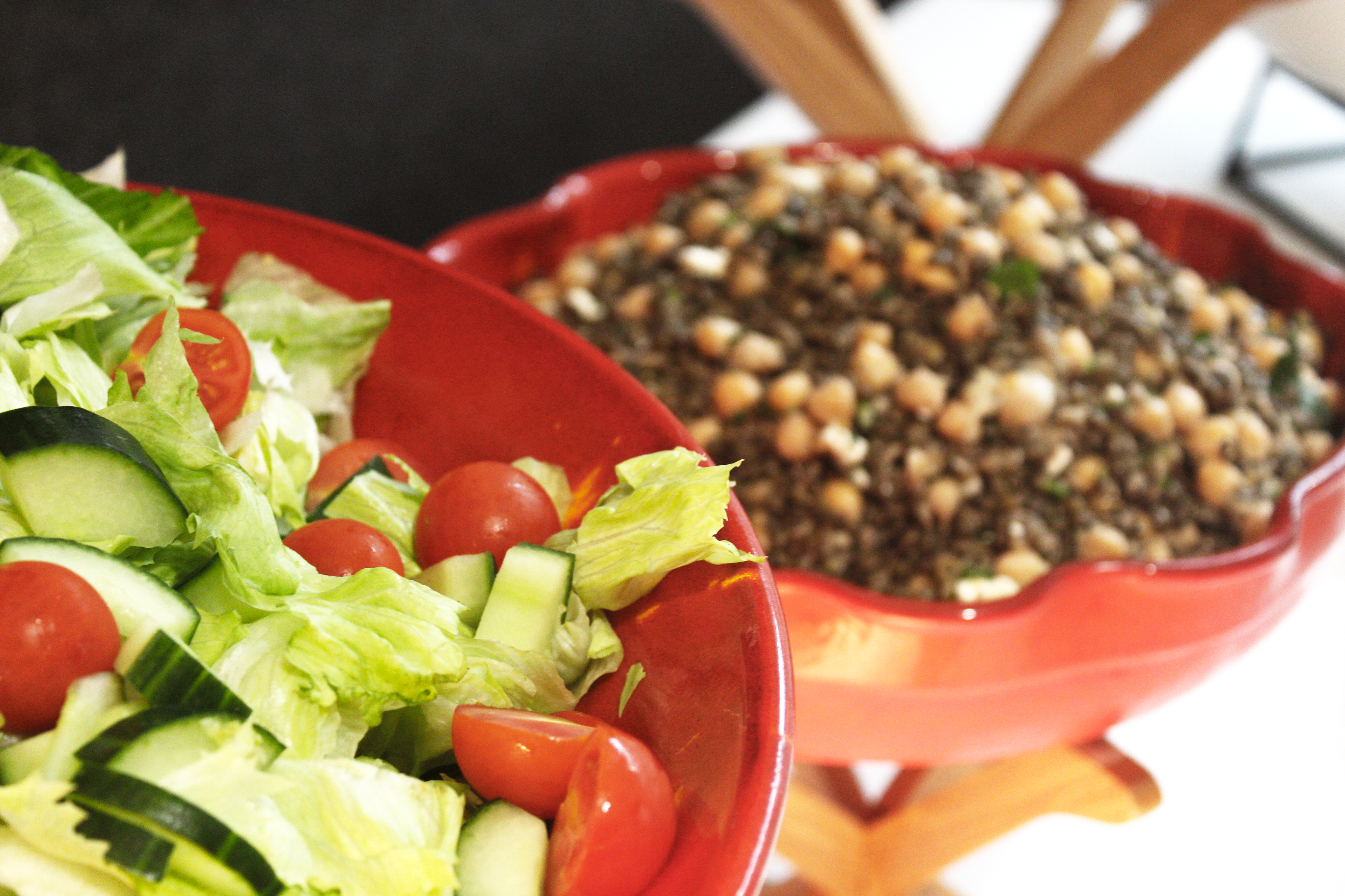 Salad and Chickpeas