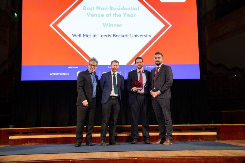 Well Met winning at the Academic Venue Awards