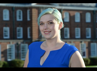 Filmmaking student Bethany Goode recieves a Bright Futures Scholarship