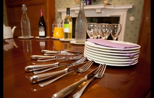 Cutlery and plates