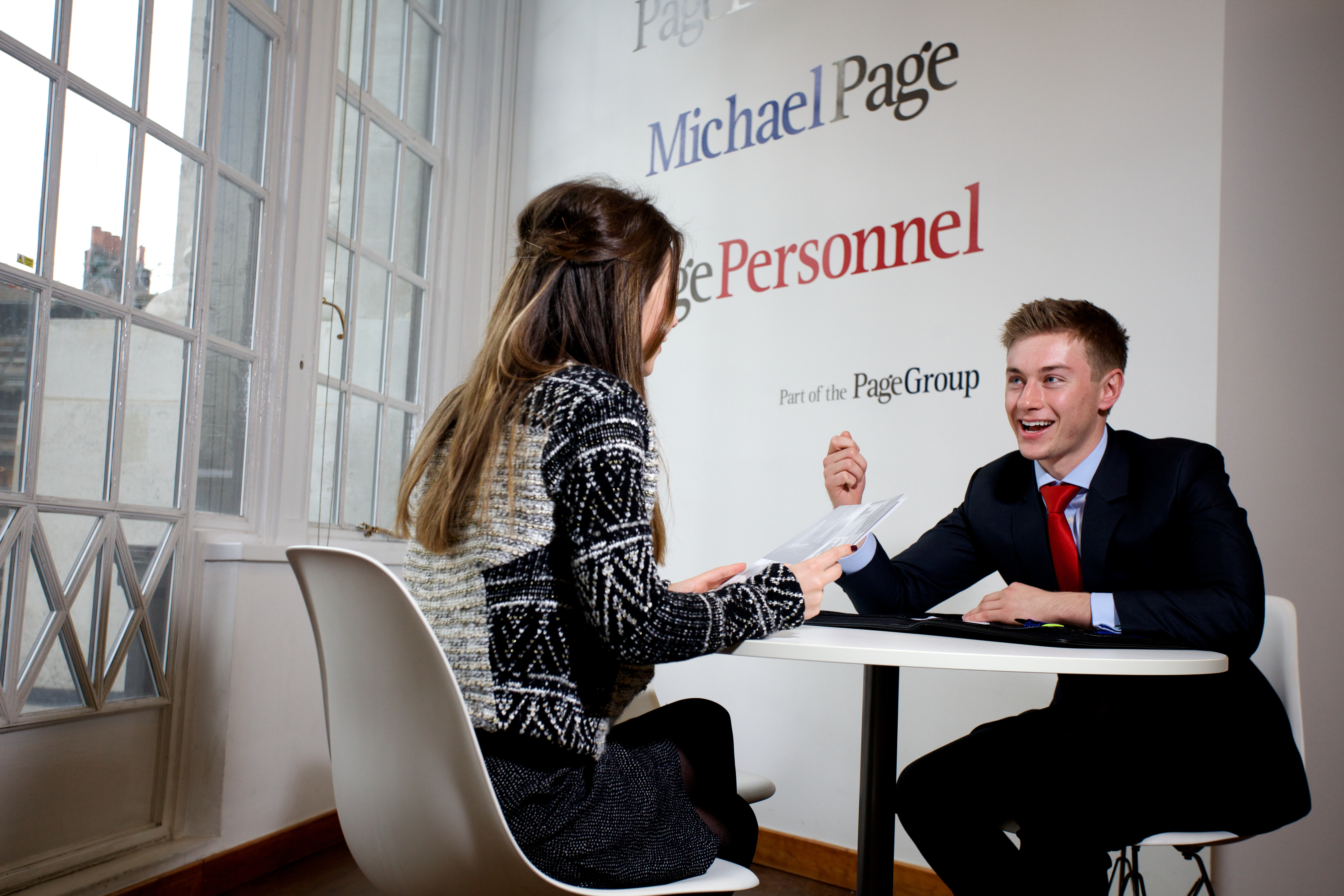 People in a business meeting at Michael Page