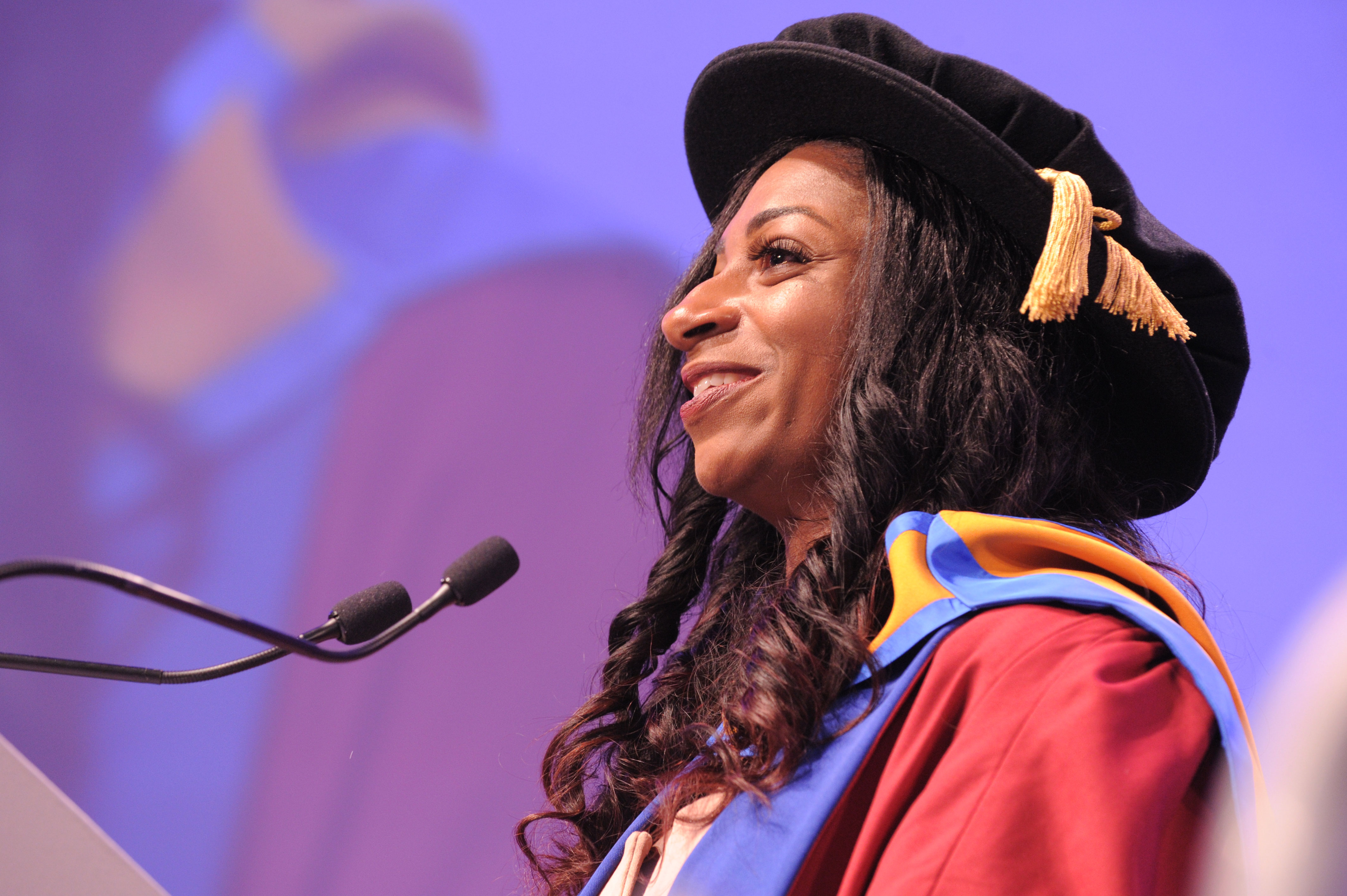 Kadeena Cox delivers graduation speech