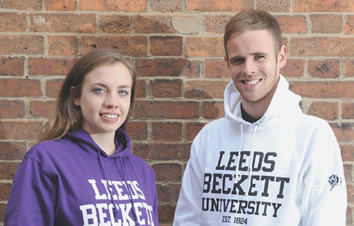 People in Leeds Beckett Hoodies