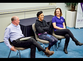 Olympic hero Dame Kelly Holmes visits Leeds Beckett
