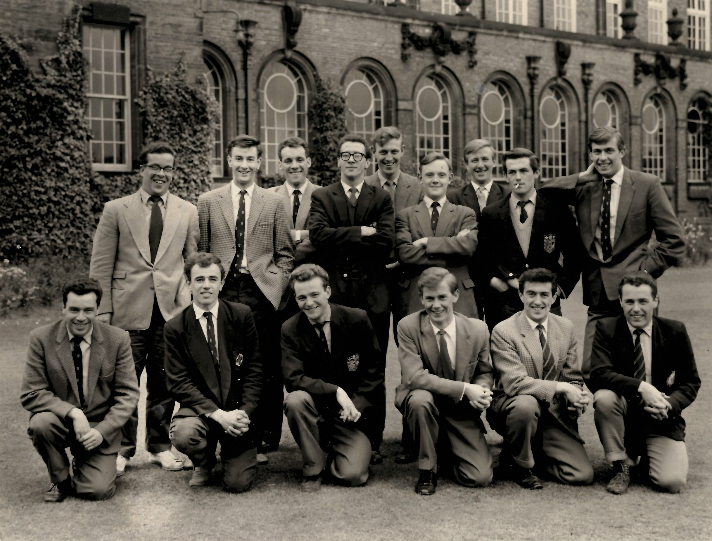 David Handley, centre wearing glasses, with Fairfax friends in 1961