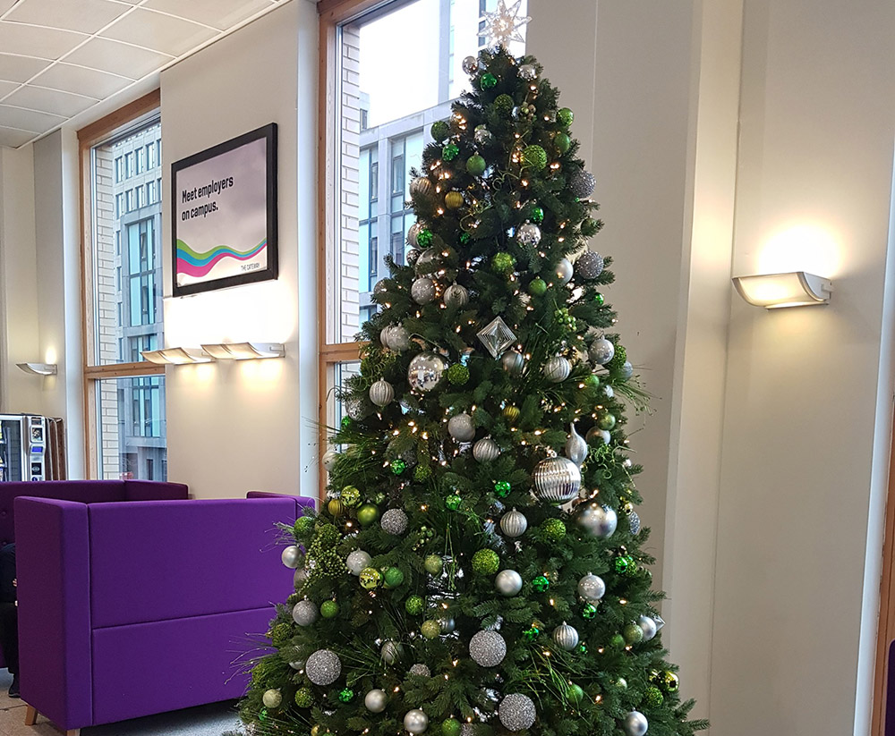 The festive season has arrived in the Library