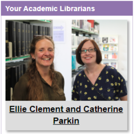 Ellie Clement and Catherine Parkin