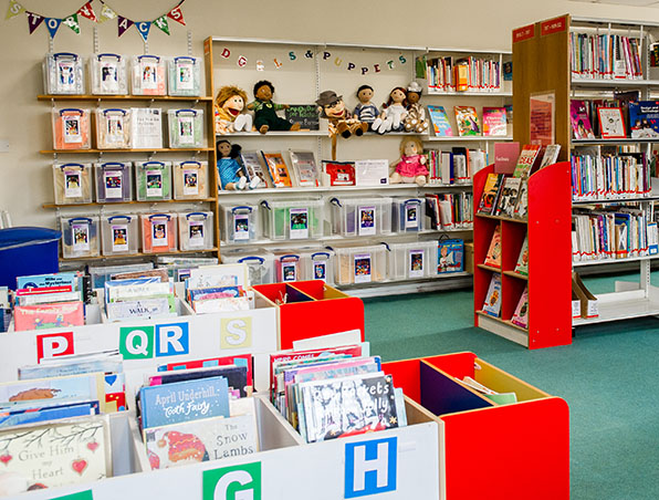Books and other resources in the School Practice Area