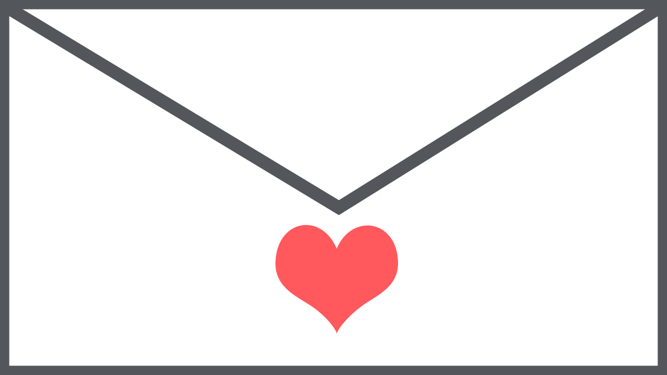 Image of a envelope with a love heart
