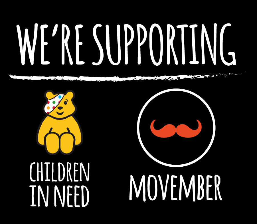 Support Children in Need and Movember