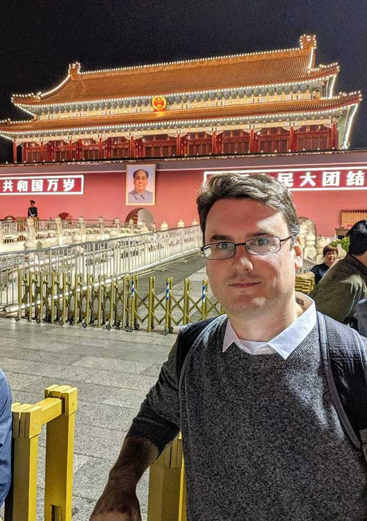 Alistair in China