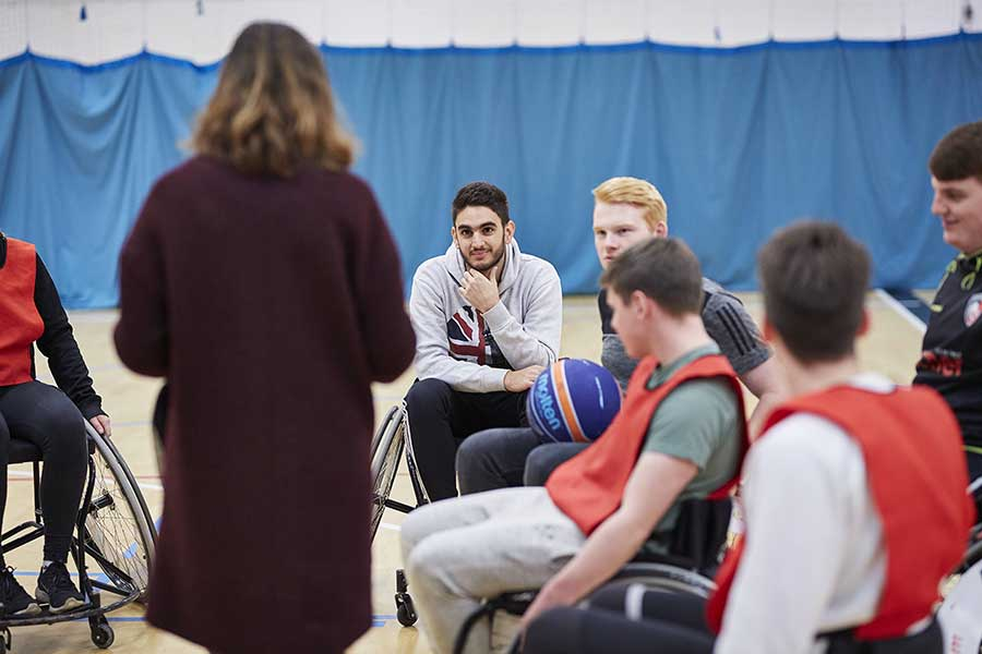 Wheelchair basketball coaching