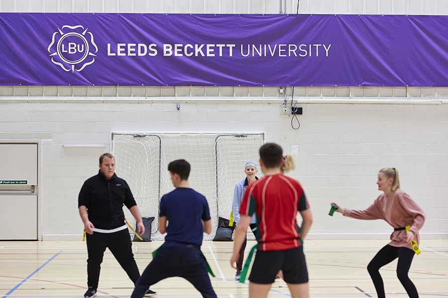 A PE coaching session at Leeds Beckett