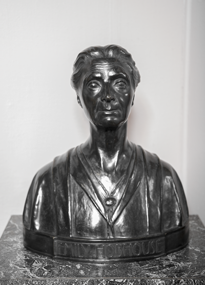 A bust from the exhibition