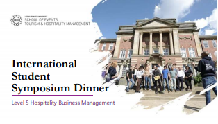 International Student Symposium Dinner