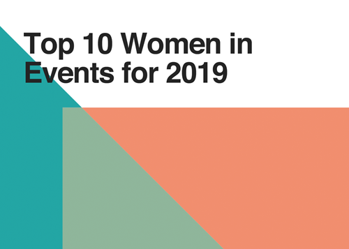 top 10 women in events graphic