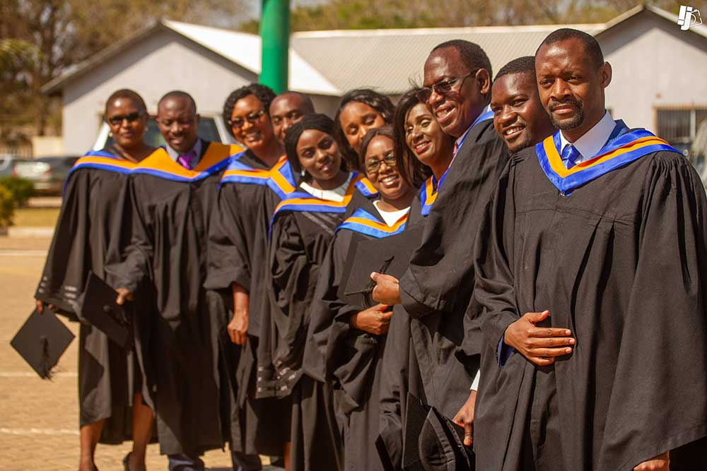 Students graduating in Zambia