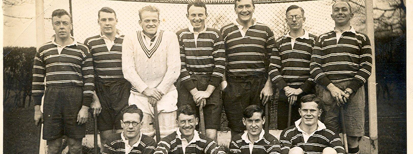 Picture of the university's cricket team many years ago