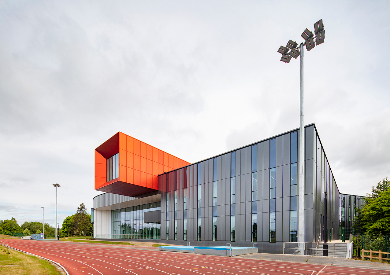 External view from the running track