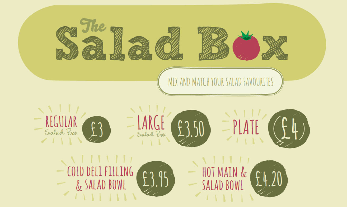 Get a Salad Box from just £3.00