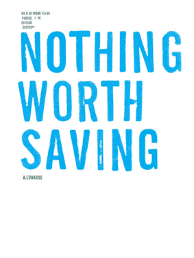 Nothing Worth Saving (Cover)