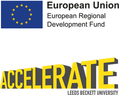 Accelerate with European Union logo.