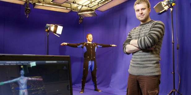 Motion capture suite at Leeds Beckett Prime Studios