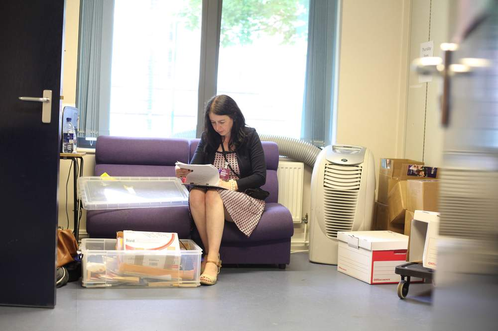 Leeds Beckett's in-house Events Team handled the whole planning and delivery. Auditorium Manager Emma takes a moment to check the running order.