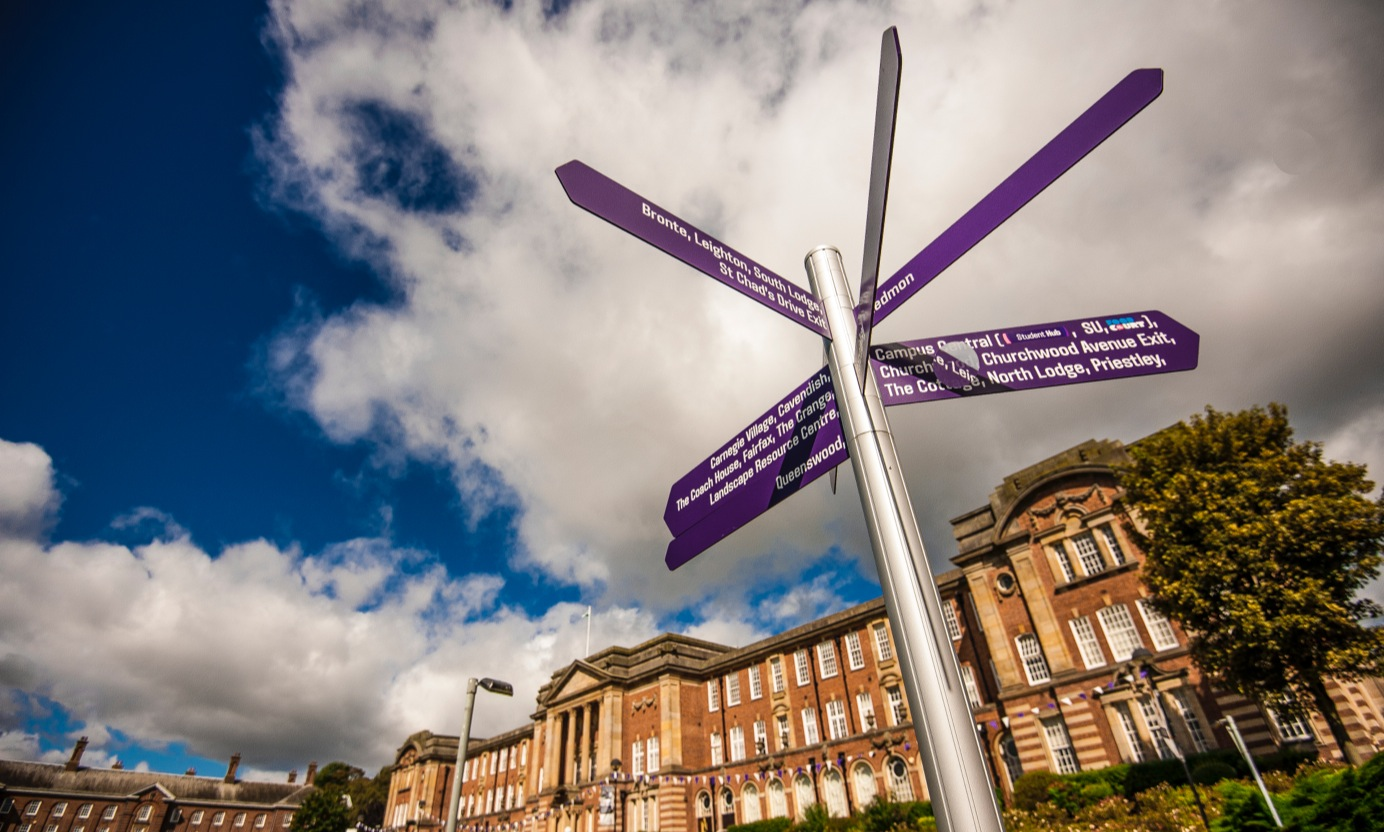 headingley campus signpost