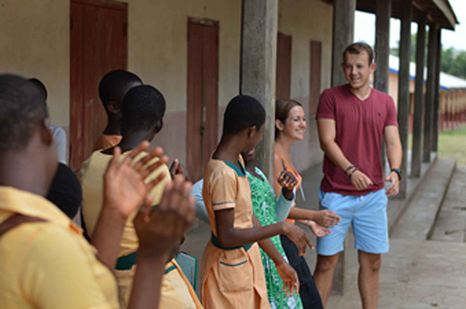Student welcomed into Ghanaian culture during volunteering trip