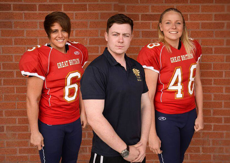 Leeds Beckett American Footballers score a place in the women's GB squad