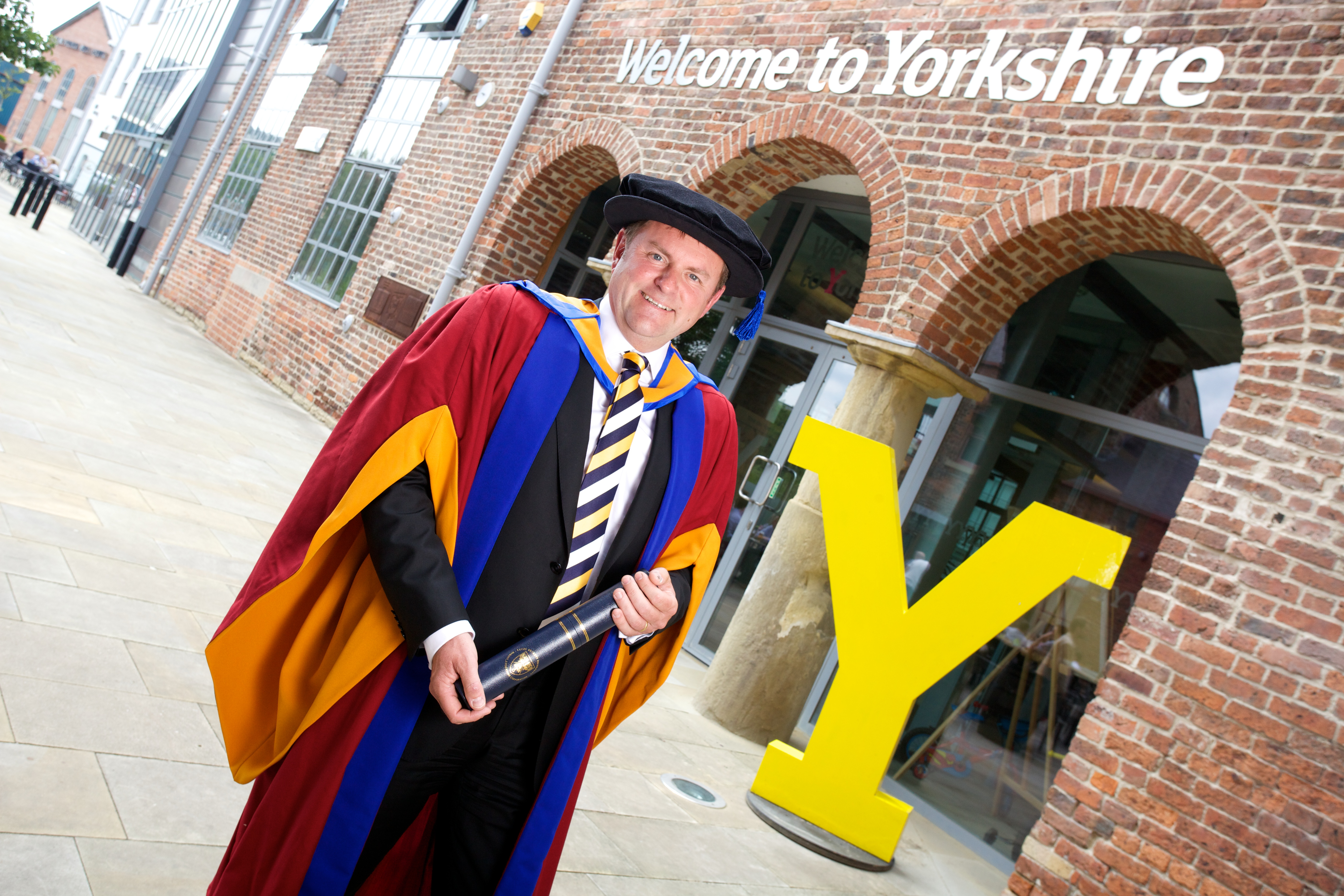 Welcome to Yorkshire chief awarded honorary degree